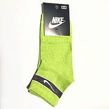Шкарпетки жіночі короткі демісезонні бавовна салатові