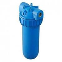 """Фильтр магистральный 10"""" Синий натрубный корпус фильтра, 1/2'' с латун. резьб., с воздушным клапаном"""