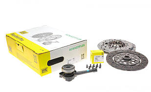 Комплект сцепления+ выжимной Renault Trafic 2.5dCi/DTi, 01-, 99kw, d=230mm LuK (Германия) 623 3159 34