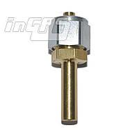 Переходник соединительный прямой+гайка+ниппель разрезной для термопластиковой трубки D6, GOMET (Тип Rail, Emer