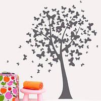 Интерьерная наклейка Дерево бабочек, фото 1