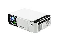 Портативный мини-проектор Everycom T5 WIFI мультимедийный светодиодный белого цвета с LED-лампа видеопроектор.