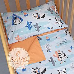 Детское постельное белье в кроватку для новорожденных, комплект в детскую кроватку для новорожденных Панды