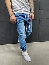 Мужские турецкие джинсы синие молодёжные чоловічі джинси брюки(размер 30,31,32)