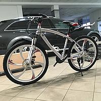 """Велосипед сталевий на литих дисках 26"""" BMW рама 17"""" Білий з червоними вставками"""