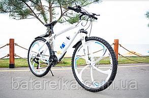 """Велосипед Алюмінієвий на литих дисках 26"""" BMW рама 17"""" Білий"""