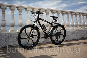 """Велосипед Алюмінієвий на литих дисках 26"""" BMW рама 17"""" Чорний"""