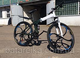 """Складний Велосипед на литих дисках 26"""" BMW X6 рама 17"""" Біло-Чорний"""