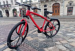 """Тальний Велосипед на литих дисках 26"""" Mercedes Benz рама 17"""" Червоний"""