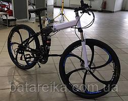 """Складаний Велосипед на литих дисках 26"""" BMW X6 рама 17"""" Червоно-білий"""