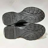 38 р. Женские кроссовки весенние из эко-кожи Черные Последняя пара, фото 8