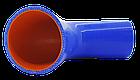 Патрубок (150 мм х 150 мм) (135` - угол) (d=80 толщ = 5 мм), фото 2