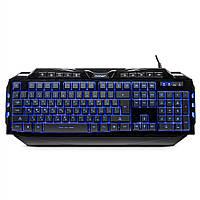 Клавиатура проводная Crown CMK-5020 USB черная с подсветкой клавиш