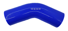 Патрубок (150 мм х 150 мм) (135` - угол) (d=80 толщ = 5 мм)