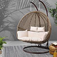 Подушка в двойное кресло кокон Т-образная
