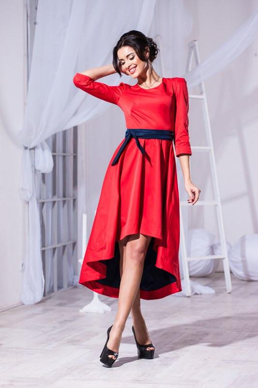 153f6ed151c8665 Обворожительное женское платье спереди короче, сзади длинее: продажа ...