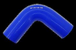 Патрубок (150 мм х 150 мм) (90` - угол) (d=55 толщ = 4 мм)