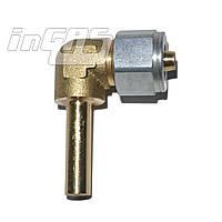 Переходник соединительный угловой+гайка+ниппель разрезной для термопластиковой трубки D8, FARO (Тип Rail, Eme