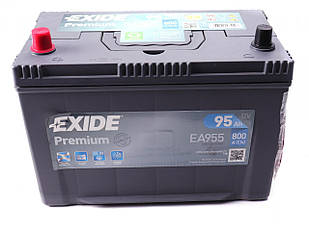 Аккумуляторная батарея 95Ah/800A (306x173x222/+L) Premium (прямая полярность) Азия EXIDE EA955