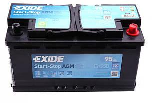 Аккумуляторная батарея 95Ah/850A (353x175x190/+R) (Start-Stop AGM) EXIDE (США) EK950