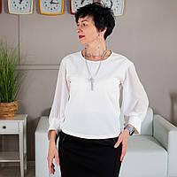 Блуза с шифоновыми рукавами молочная, фото 1