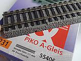 PIKO A-track 55406 Рельсовый материал - прямой рельс G231 для контактной клипсы 55270,55275, масштаба 1:87, фото 2