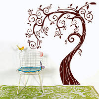 Інтер'єрна наклейка Дерево з завитками