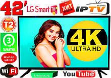 "ХИТ! 4K телевизоры LG SmartTV 42"" Slim ,LED, IPTV, Android 9, T2, WIFI, USB КОРЕЯ"
