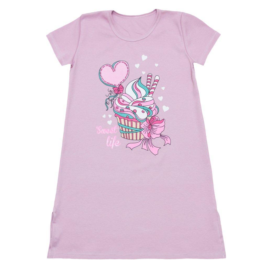 Стильна нічна сорочка для дівчинки Пироженое