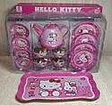 Набор игрушечной металлической посуды 966-A17 Чайный сервиз на 4 персоны, Hello Kitty Хелоу Китти, фото 2