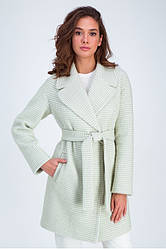 Пальто женское демисезонное шерстяное, оверсайз, в клетку Лили | 42, 44, 46, 48 размеры