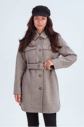 Пальто-рубашка женское демисезонное шерстяное Майли | 42, 44, 46, 48 размеры
