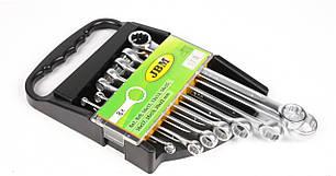 Набор ключей 12-гранных плоских кольцевых (8 шт) (6х7-20х22mm)  51878