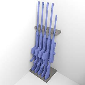 Комплект держатель ствола FDO5 + ложемент под приклад DFDO5 на пять стволов (ружей) с оптикой