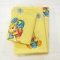 Комплект постельного белья детский ранфорс желтый