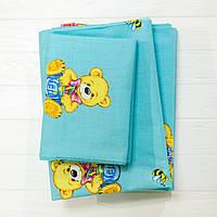 Комплект постельного белья детский ранфорс голубой