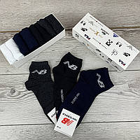 Мужской набор носков New Balance, комплект однотонных носков нью беленс 8 шт. в коробке