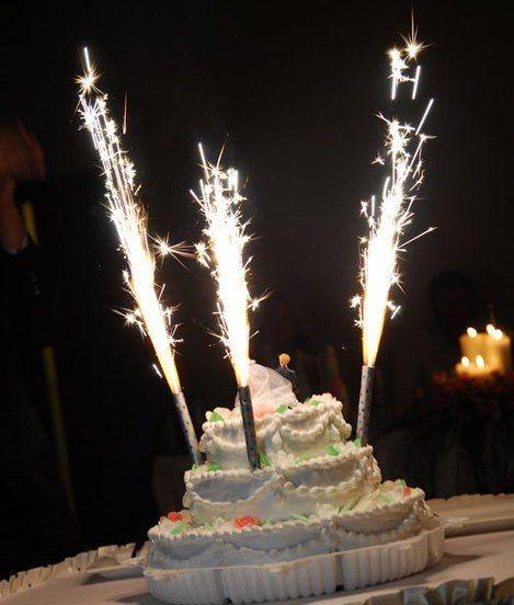 тортовые свечи с цветным пламенем