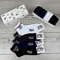 Мужской набор носков Fila, комплект однотонных носков фила 8 шт. в коробке