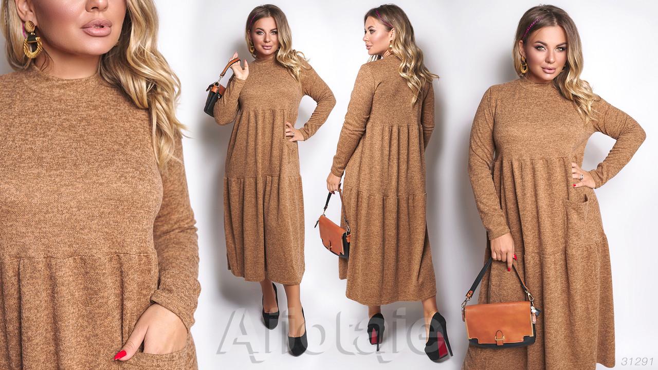 Тепле жіноче плаття батал р. 48-58 Ajiotaje XL