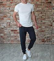 Мужские спортивные штаны на манжете ТМ «Fazor», Узбекистан / Размеры: 46-54 / Трикотаж двунитка - джинсовые