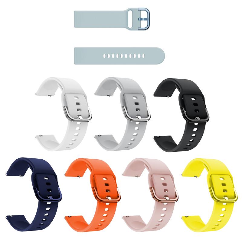 Міцний водонепроникний браслет для смарт годин Samsung Galaxy Watch Active з силікону 20 мм
