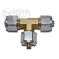 Тройник соединительный Т-образный D6xD8xD6 mm, для термопласт.трубки, Gomet, шт