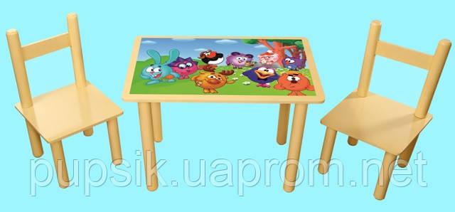 Набор мебели детский стол и 2 стульчика Смешарики 066, Финекс