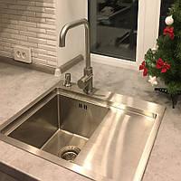 Кухонная мойка Platinum Handmade 5848/220 L сталь 3.0/1.5 мм с дозатором и корзиной