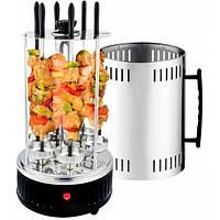 Электрошашлычница домашнее барбекю гриль Domotec BBQ MS-7781/3165 (черная)