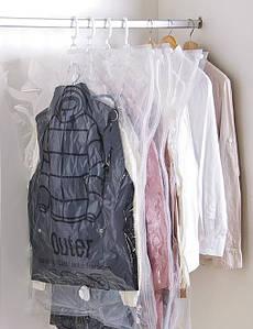 Размер 67*90 см. Вакуумный пакет с клапаном и крючком для упаковки и хранения одежды, с рисунком.