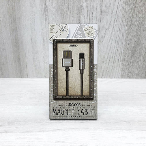 Магнітний USB кабель Remax Cable Magnet Gavity Series RС-095i Lightning, фото 2