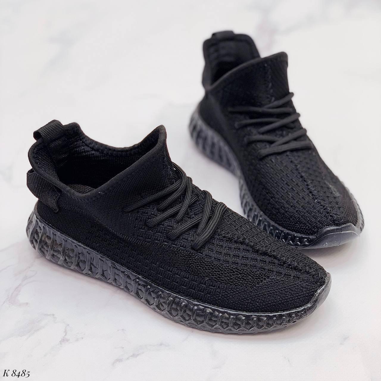 Кросівки чорні жіночі / молодіжні текстиль