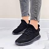 Кросівки чорні жіночі / молодіжні текстиль, фото 4